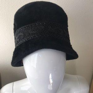 Vintage Jan Leslie Beaded Furry Hat